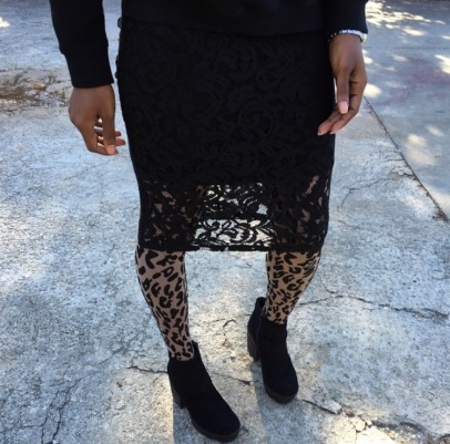 Leopard Tights and Lace